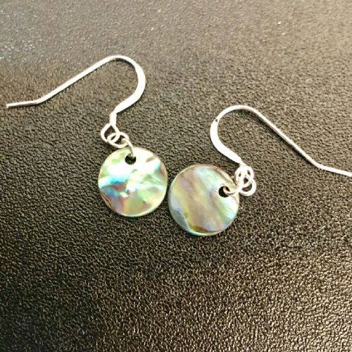 Paua Disc Small Earrings PE03-DiscS